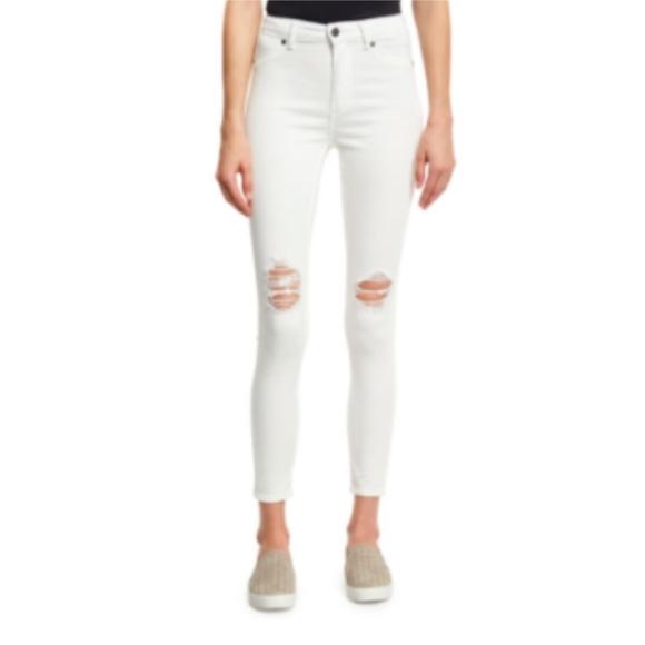 Cheap Monday Denim - NWT Cheap Monday High Spray Waist Jeans White 28